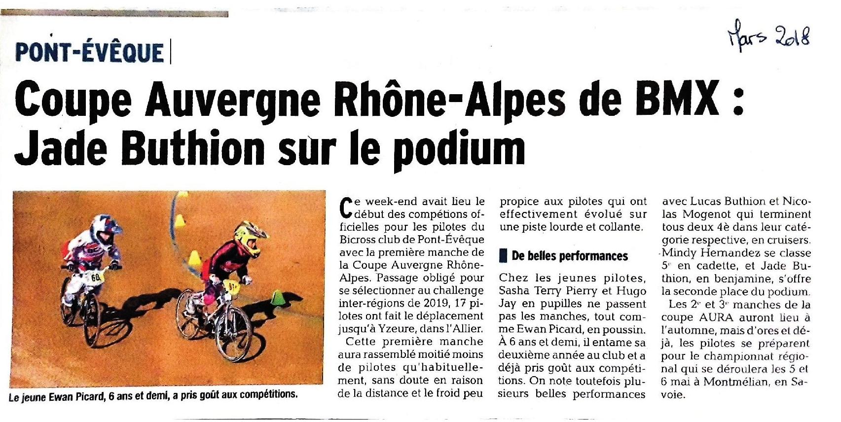 Coupe Auvergne Rhône Alpes 1ère manche à Yzeure - 17 et 18 mars 2018