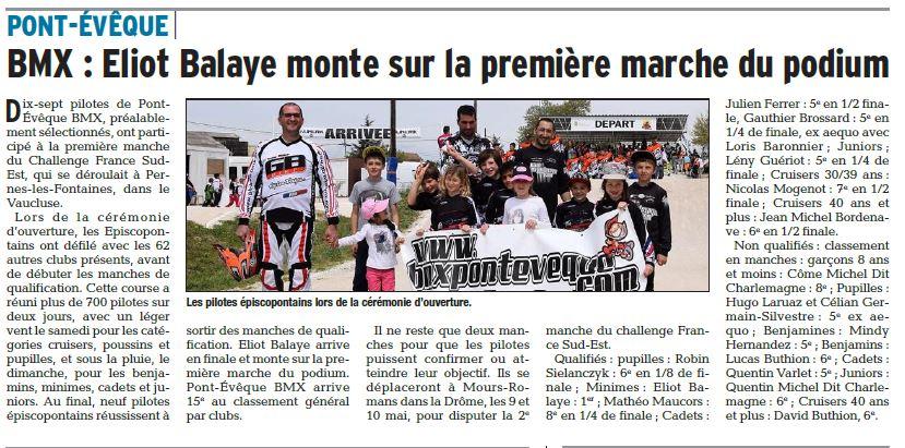 Challenge France Sud-Est 1ère manche à Pernes Les Fontaines - 22 avril 2015