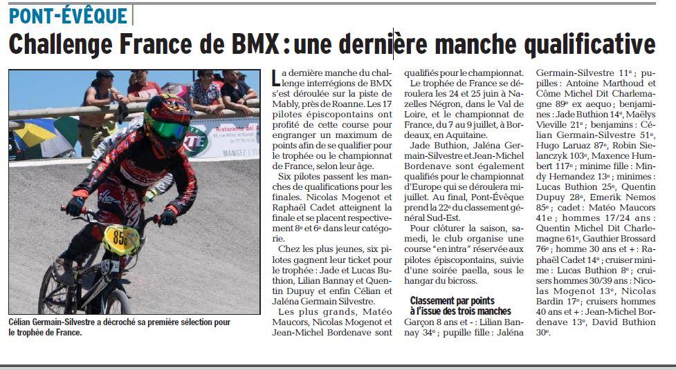 Challenge France Sud-Est 3ème manche à Roanne Mably - 10 et 11 juin 2017
