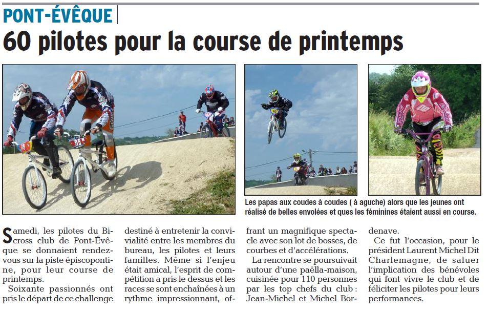 Course Intra Club à Pont-Evêque - 28 mai 2016