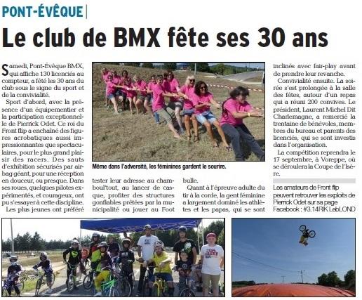 30 ans du Club à Pont-Evêque - 10 septembre 2016