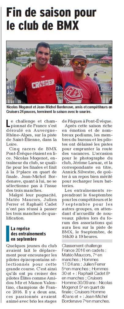Championnat de France à St Etienne - 1er au 3 juillet 2016