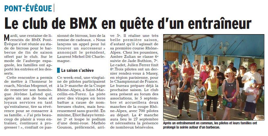 Fin de saison et Barbecue du Club à Pont-Evêque - 15 juin 2015