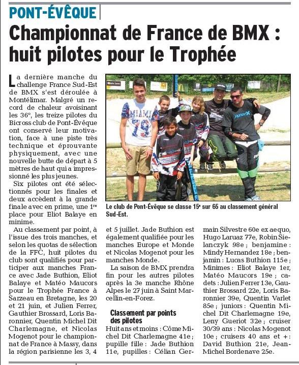 Challenge France Sud-Est 3ème manche à Montélimar - 14 juin 2015