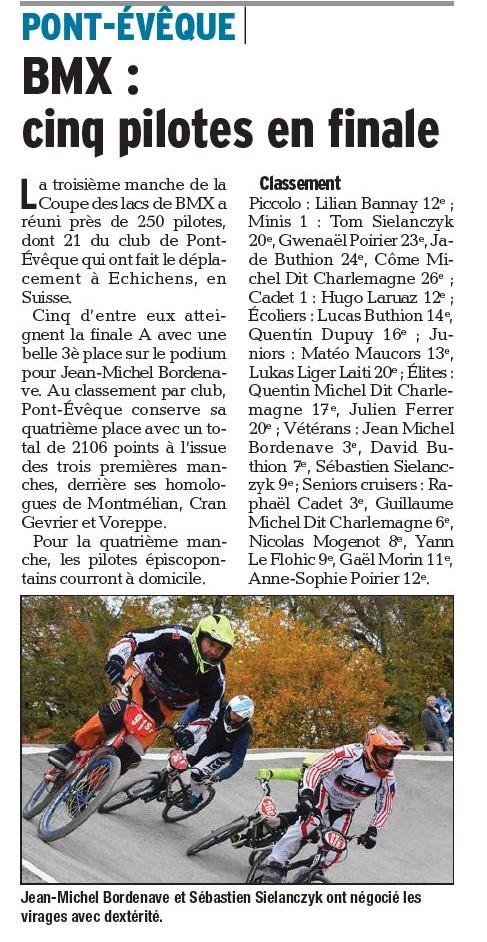 Coupe des Lacs 3ème manche à Echichens - 1er novembre 2015