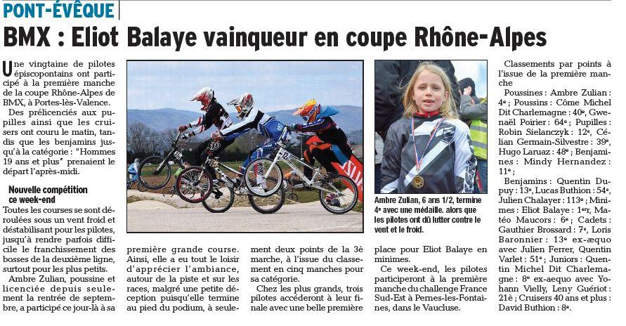Coupe Rhône Alpes 1ère manche à Portes les Valences - 10 avril 2015