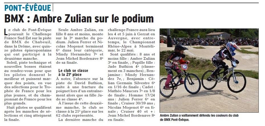 Challenge France Sud-Est 2ème manche à Chabeuil -7 et 8 mai 2016