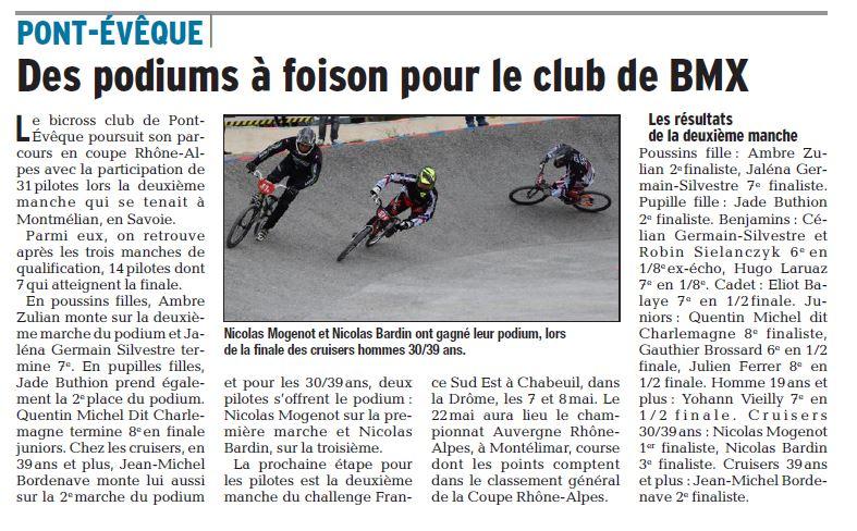 Coupe Rhône Alpes 1ère manche à Montmélian - 24 avril 2016