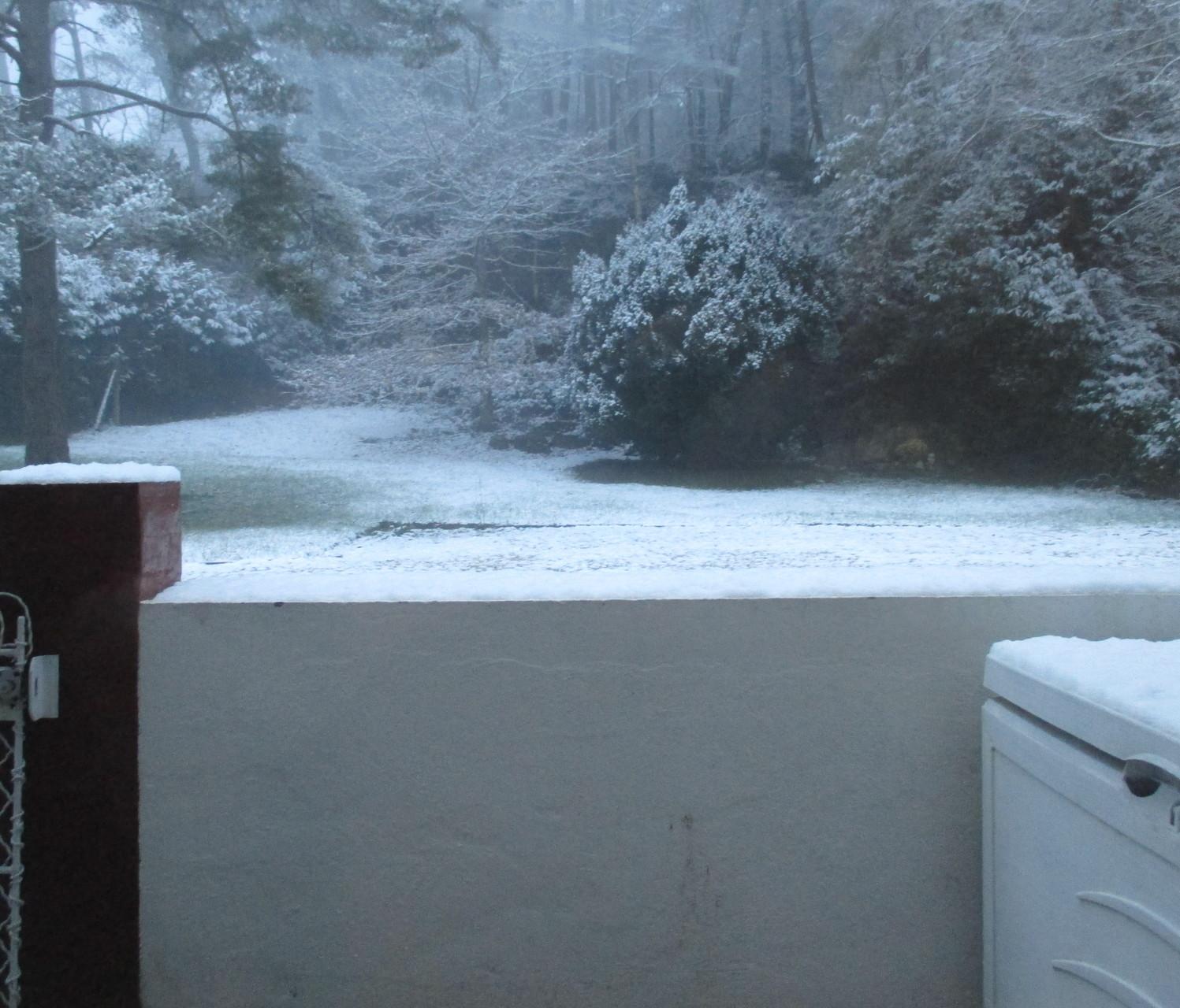 Le matin du départ, il neige....