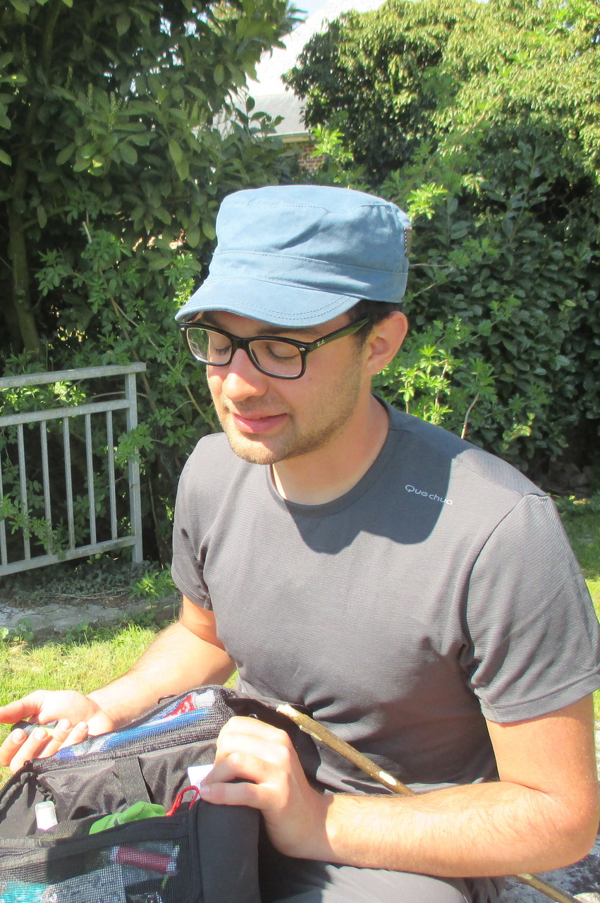 Première rencontre avec Jimmy, jeune pèlerin Belge