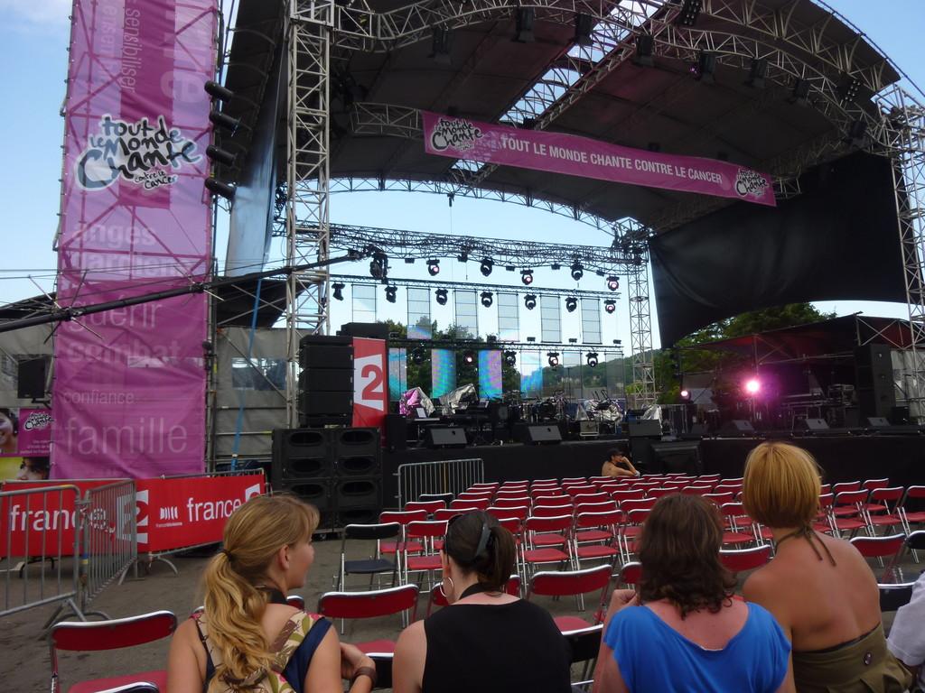 Un peu avant le concert