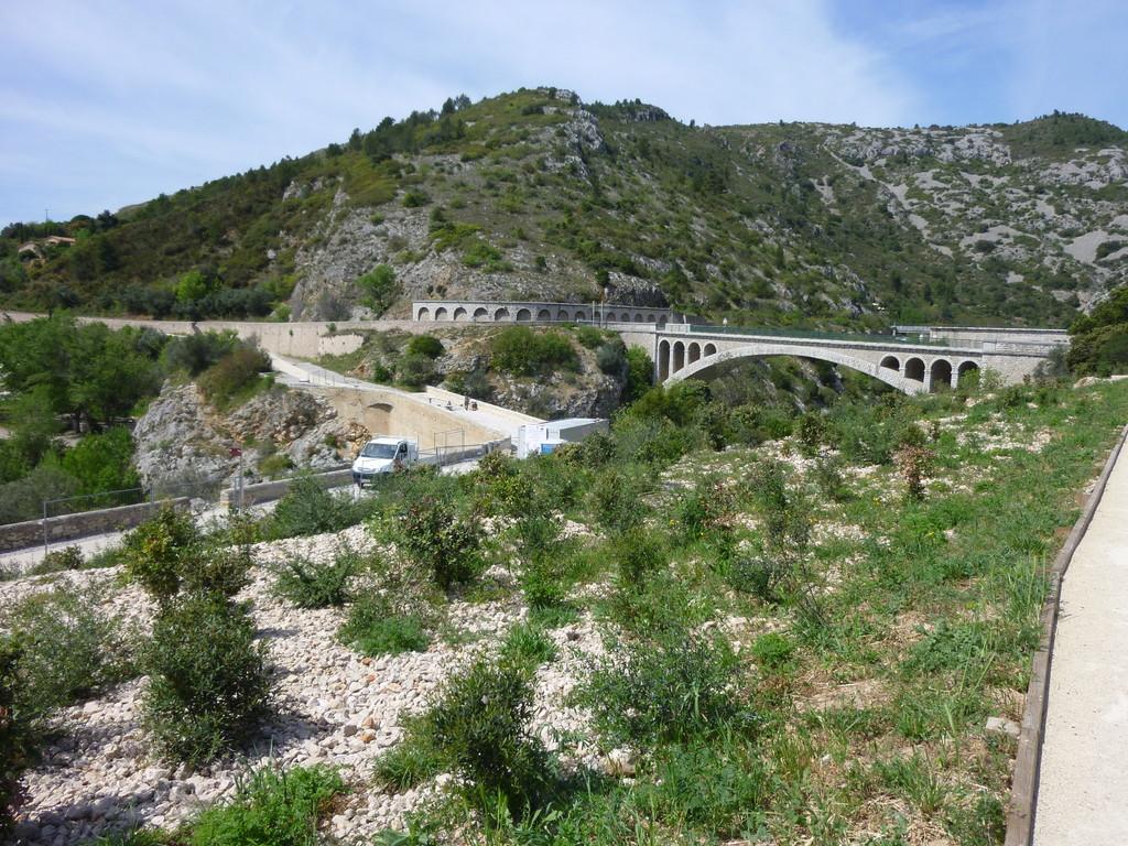 Le pont du diable, peu avant Saint Guilhem le Désert
