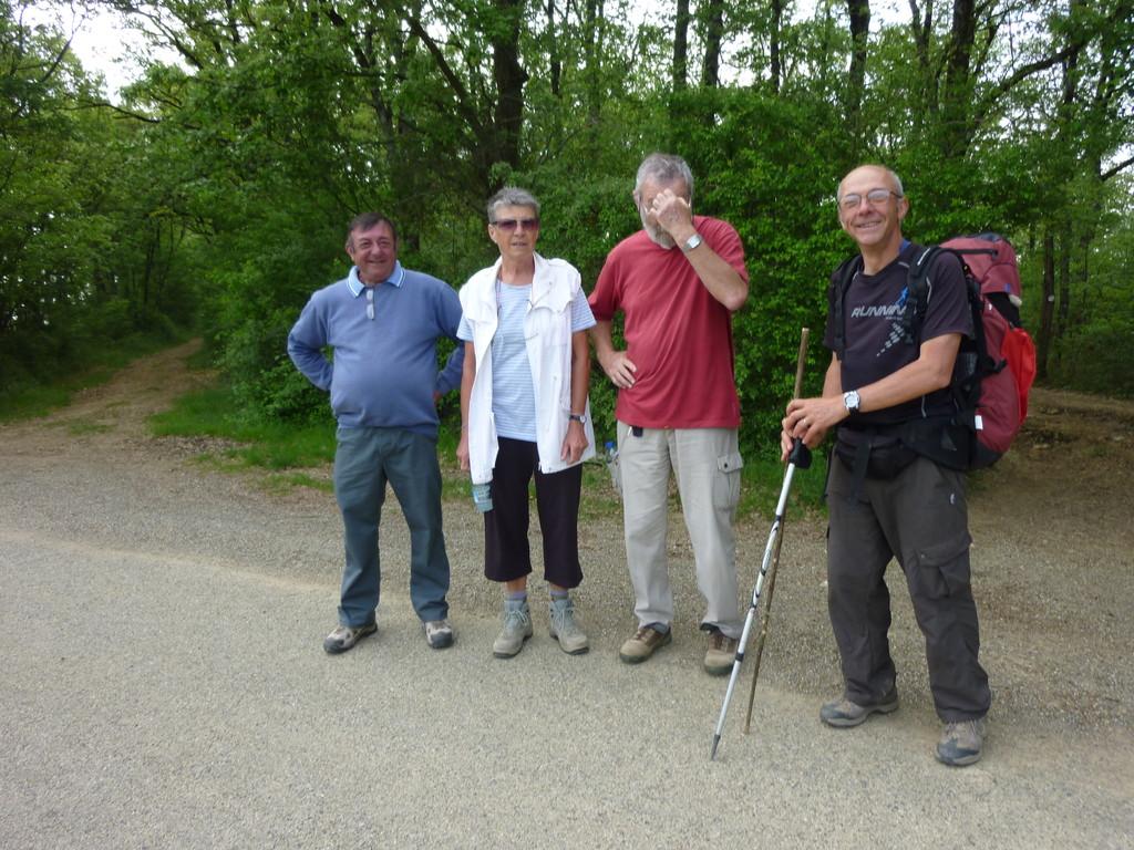 En chemin vers Gimont, des locaux qui ont emboîté nos pas, quelques km