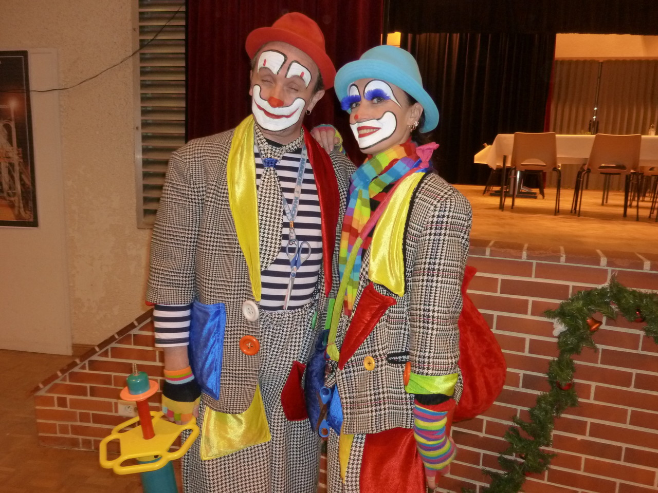 Le couple des clowns