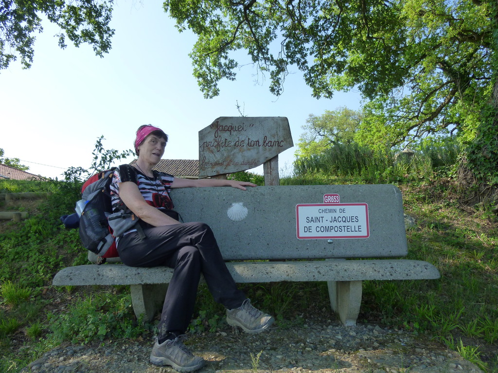 En chemin vers Gimont, des riverains attentifs au bien être du pèlerin...Merci