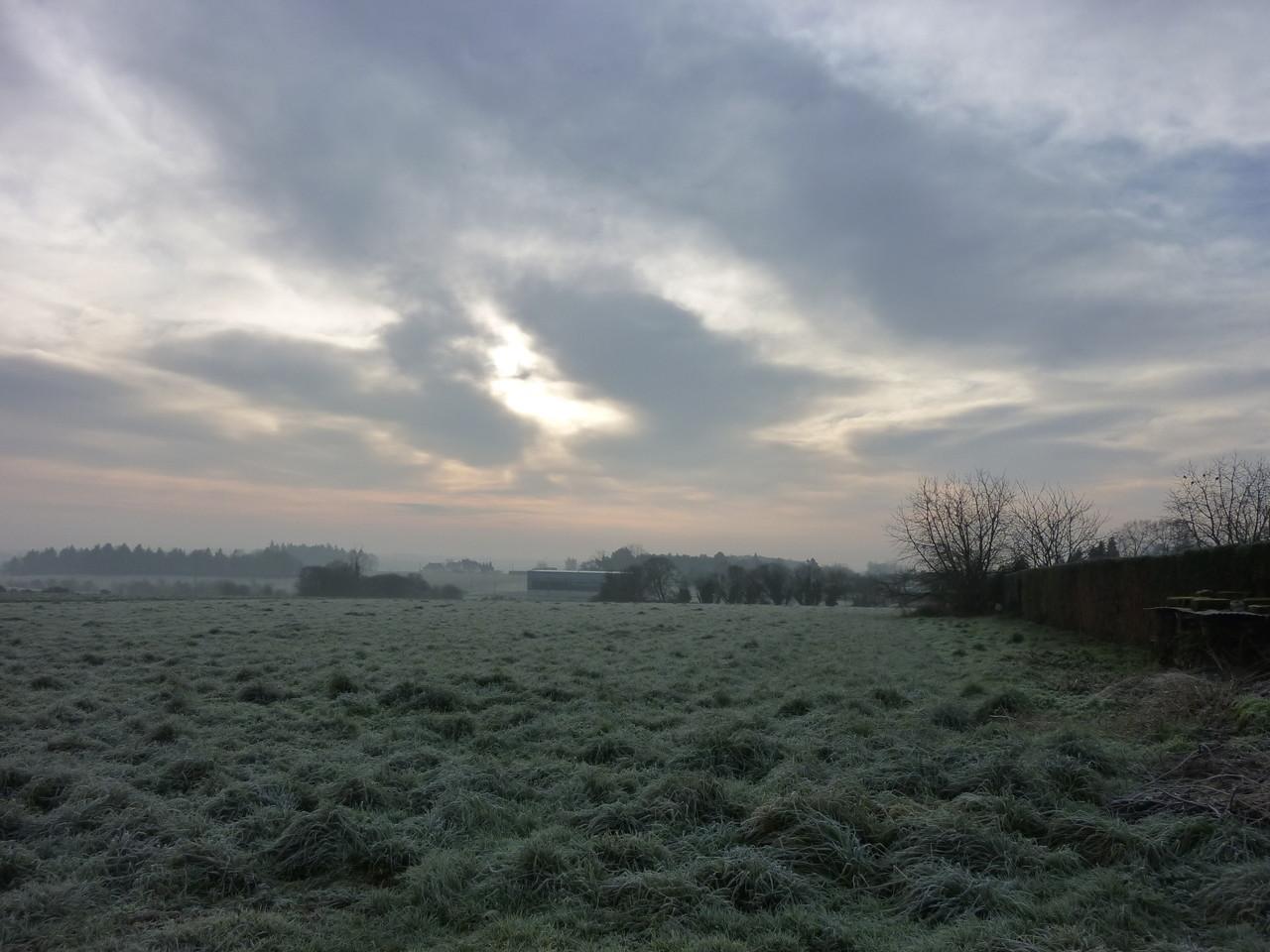 Campagne, un matin d'hiver