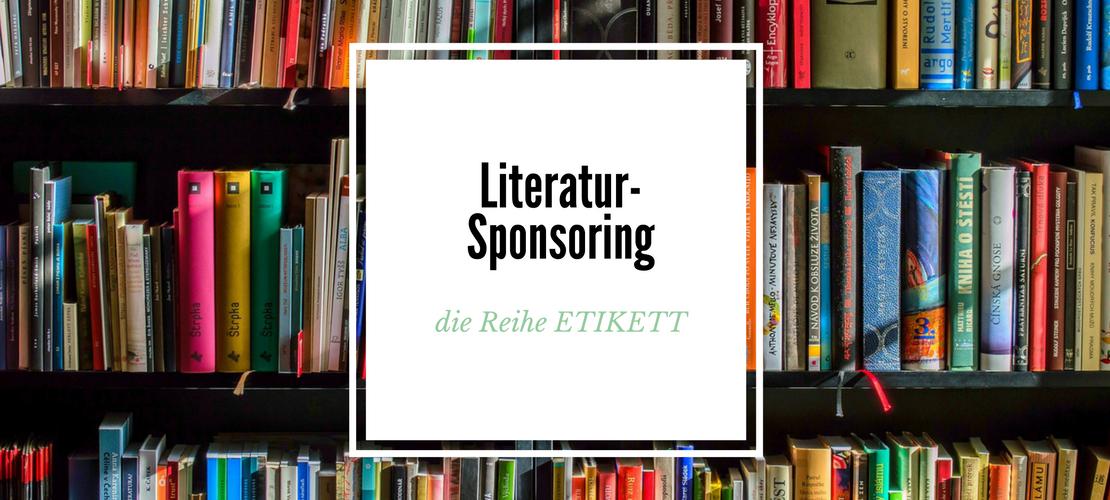 Literatur-Sponsoring - Die Reihe ETIKETT