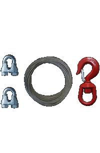 Cable, nudos y gancho