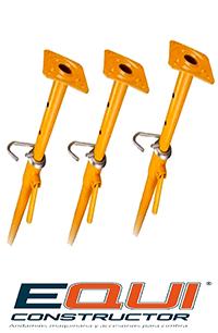 Medidas del puntal o pie derecho 3m, 4m y 5m.