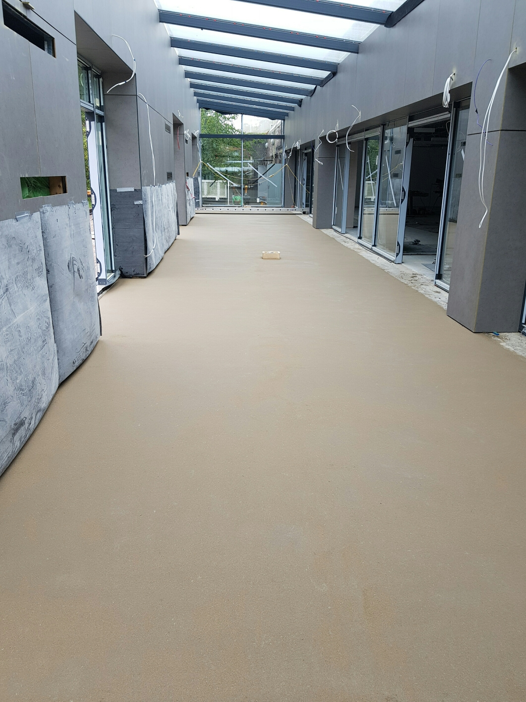 128m2 of Advance 5 Reinforced Fibre Screed - DVLA SWANSEA