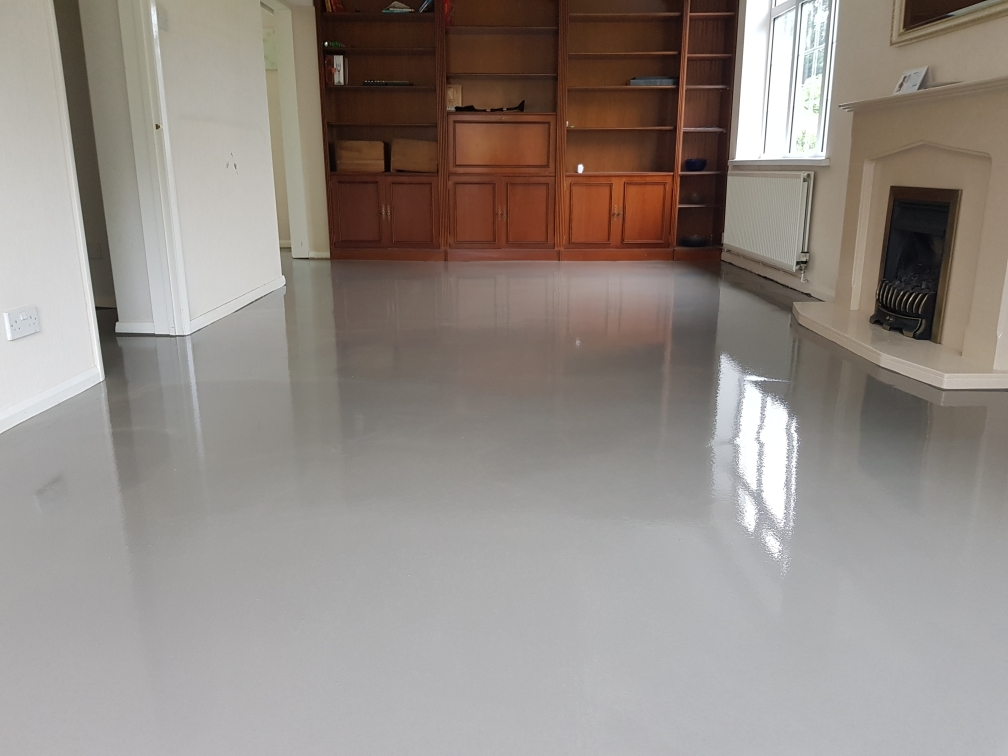 Self levelling liquid screed installed - Cardiff