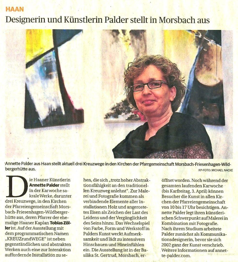Rheinische Post vom 18. März 2015. Das Foto zeigt KEINEN Kreuzweg...