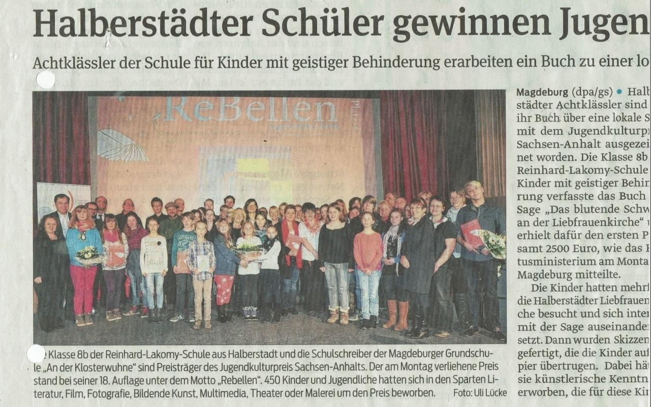 Magdeburger Volksstimme 2014 (Dezember)