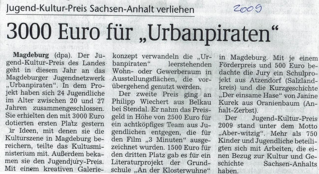 Magdeburger Volksstimme 2009