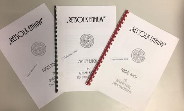 """2011: """"Retsolk enhuw I"""", 2012: """"Retsolk enhuw II"""", 2013: """"Retsolk enhuw III"""" Herausgegeben von  G. Pilz, T. Olle"""