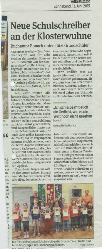Magdeburger Volksstimme 2015 (Juni)