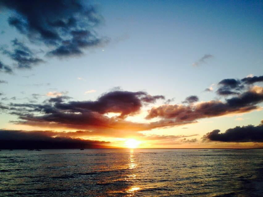 マウイ島 ラハイナ レインスプナーの定番柄のラハイナです