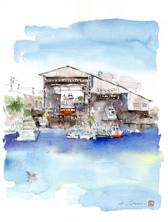 old shipyard on Horikawa