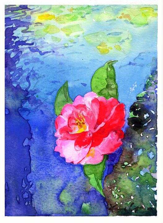一片の落椿 a piece of camellia