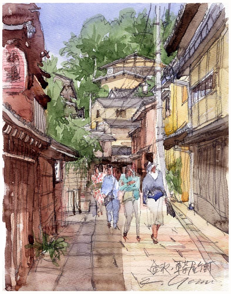 東茶屋街、金澤