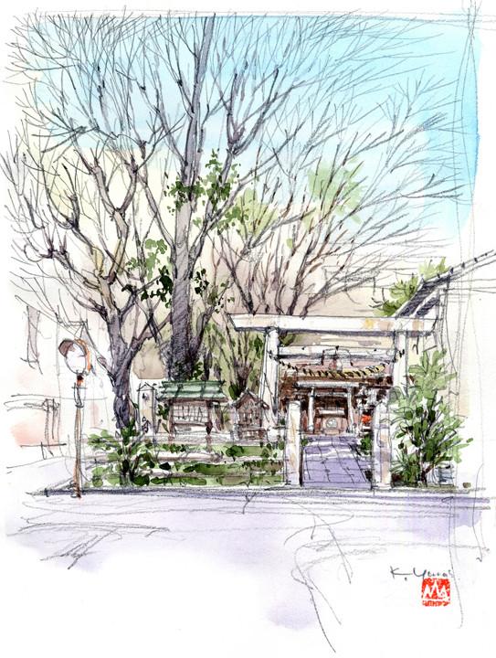 四間道、浅間神社 Shike-michi, Sengen Shrine