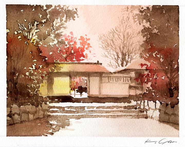 白鳥庭園北門