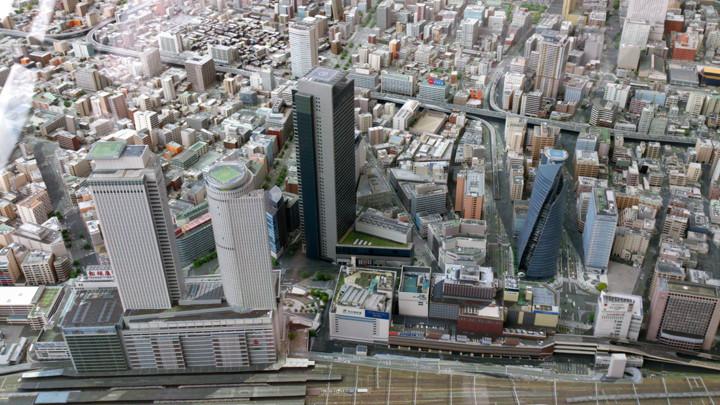 11階設置の名古屋模型