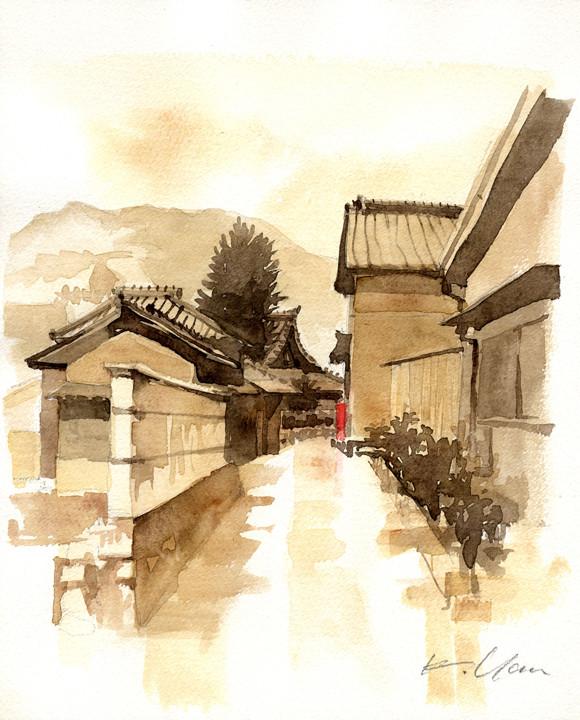 西念寺辺り、阿下喜にて