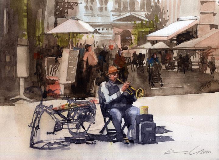street musician, Strasbourg