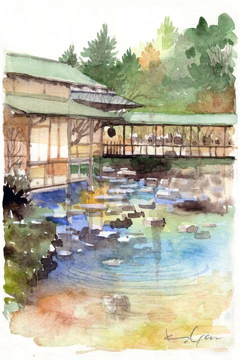 白鳥庭園・清羽亭