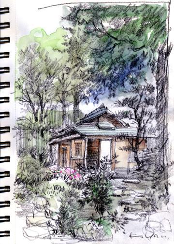 文化のみち橦木館の露地 roji+tea house