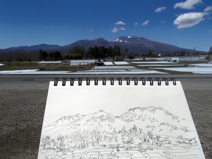 Mt.Asama in Miyota