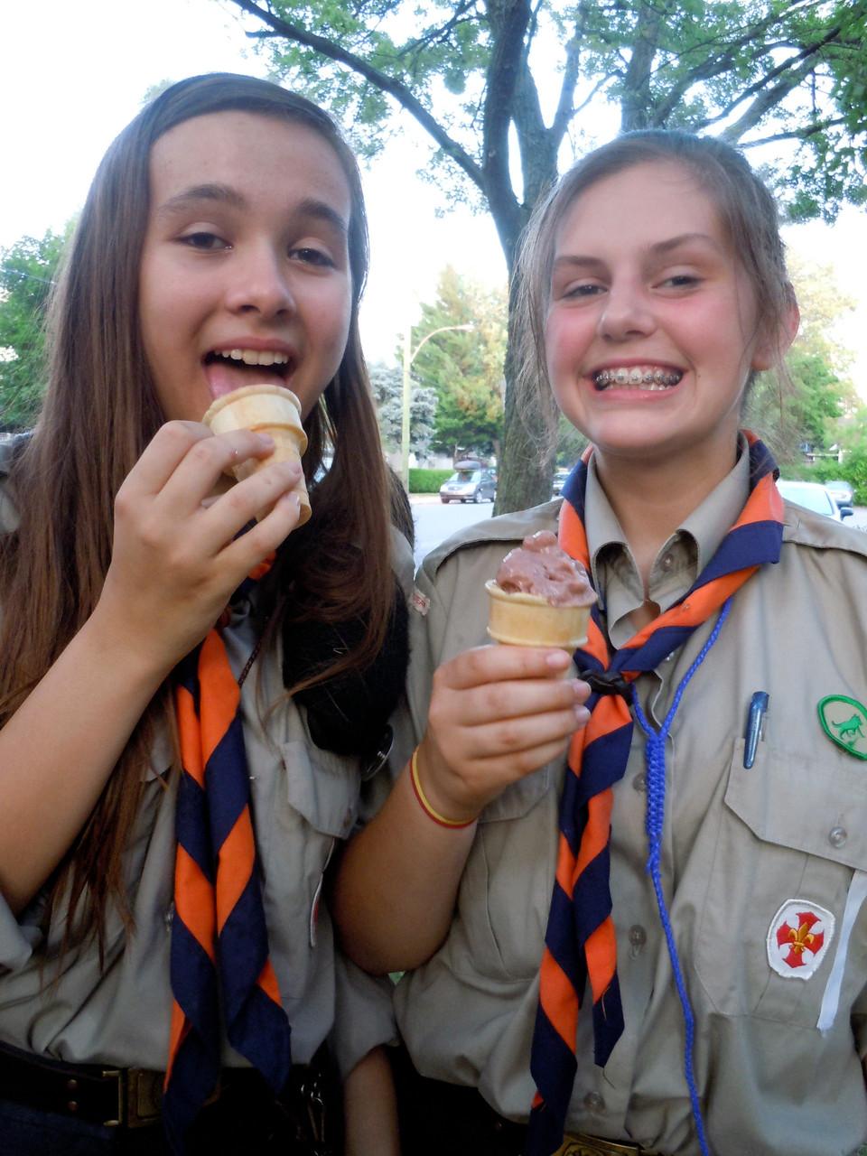 Crème glacée faite maison par les guides