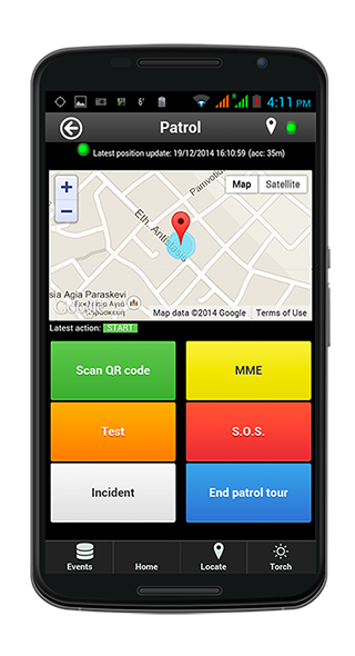 Wächterkontrollsystem SISU GuardControl auf dem Handy