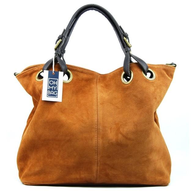 Sac à main cabas cuir nubuck Opéra - 120€ (Boutique : Oh My Bag)