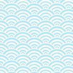 Papier washi vague japonaise Seigahia bleu et blanc