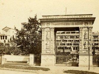 Triumphtor - historische Ansicht von 1865