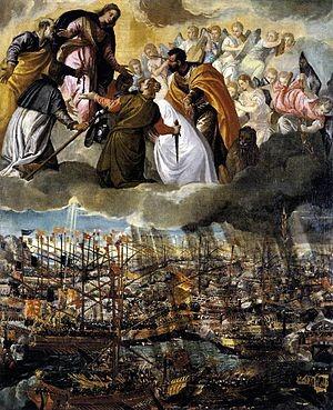 La batalla de Lepanto por Paolo Veronese