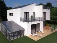 Architektenhaus mit Energiecarport und Energiegeländer