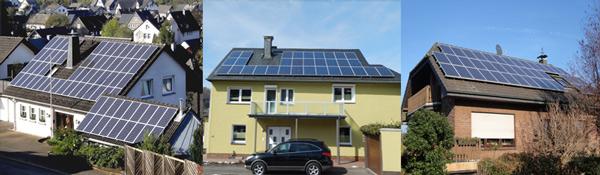 Photovoltaik auf Wohnhäusern - Strom-Eigenbedarf und Verkauf